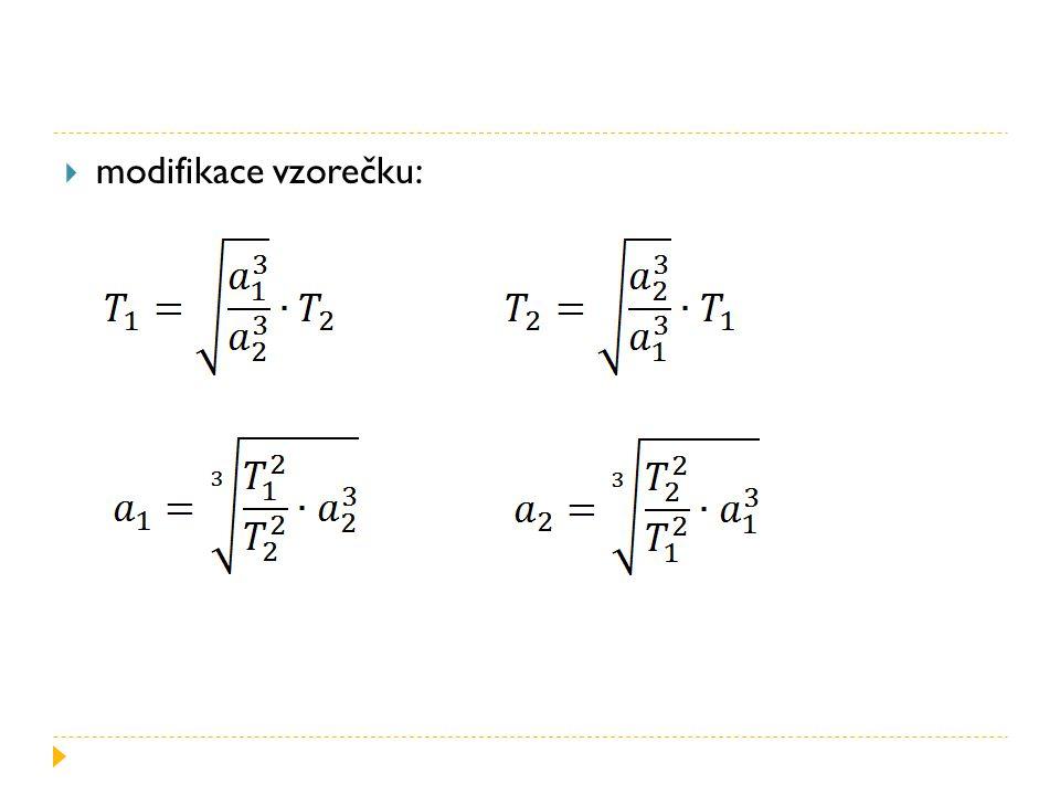  modifikace vzorečku: