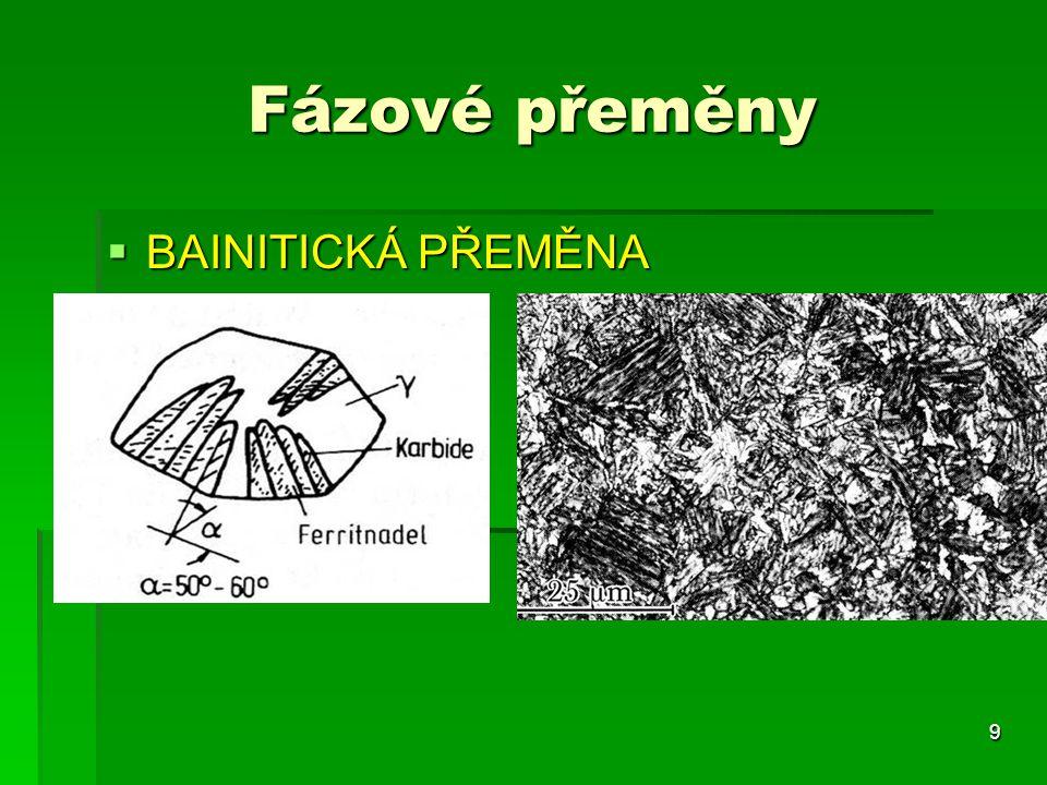  BAINITICKÁ PŘEMĚNA 9 Fázové přeměny