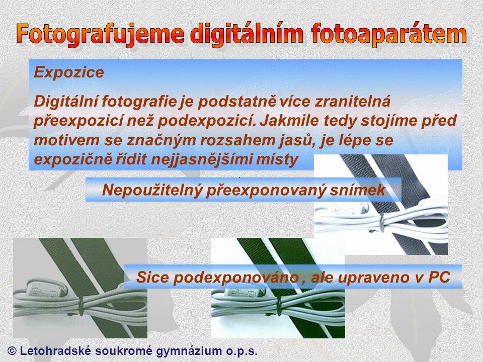 © Letohradské soukromé gymnázium o.p.s. Proč nemusíme používat osvitoměry .