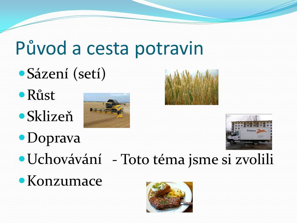 Původ a cesta potravin Sázení (setí) Růst Sklizeň Doprava Uchovávání Konzumace - Toto téma jsme si zvolili