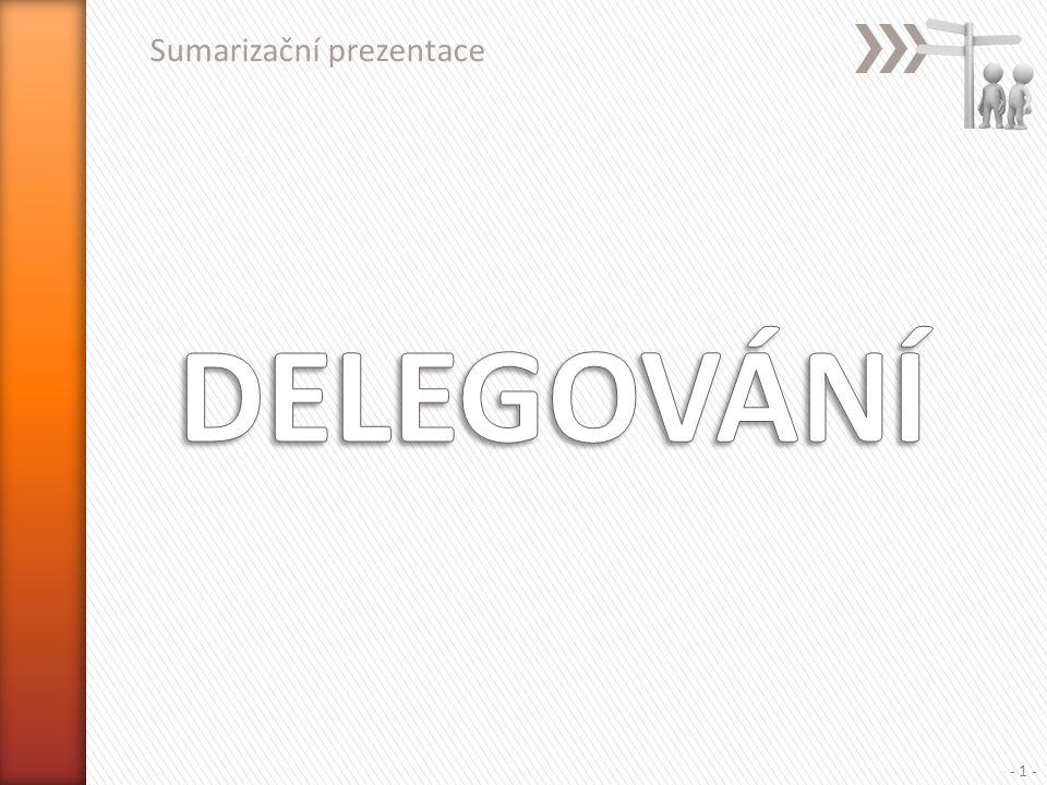Sumarizační prezentace - 1 -