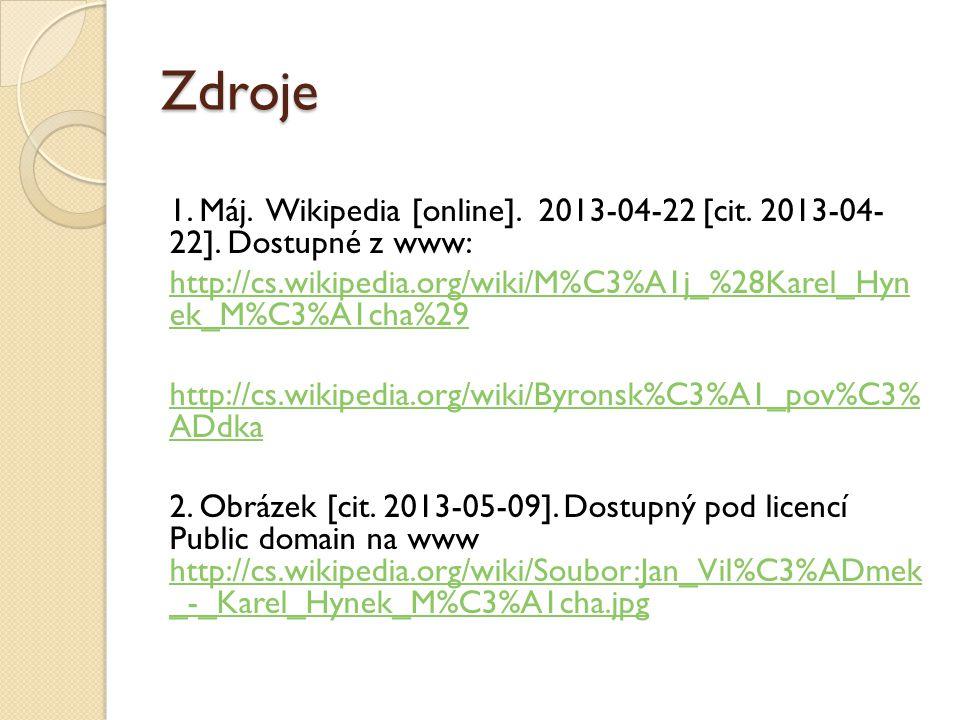 Zdroje 1.Máj. Wikipedia [online]. 2013-04-22 [cit.