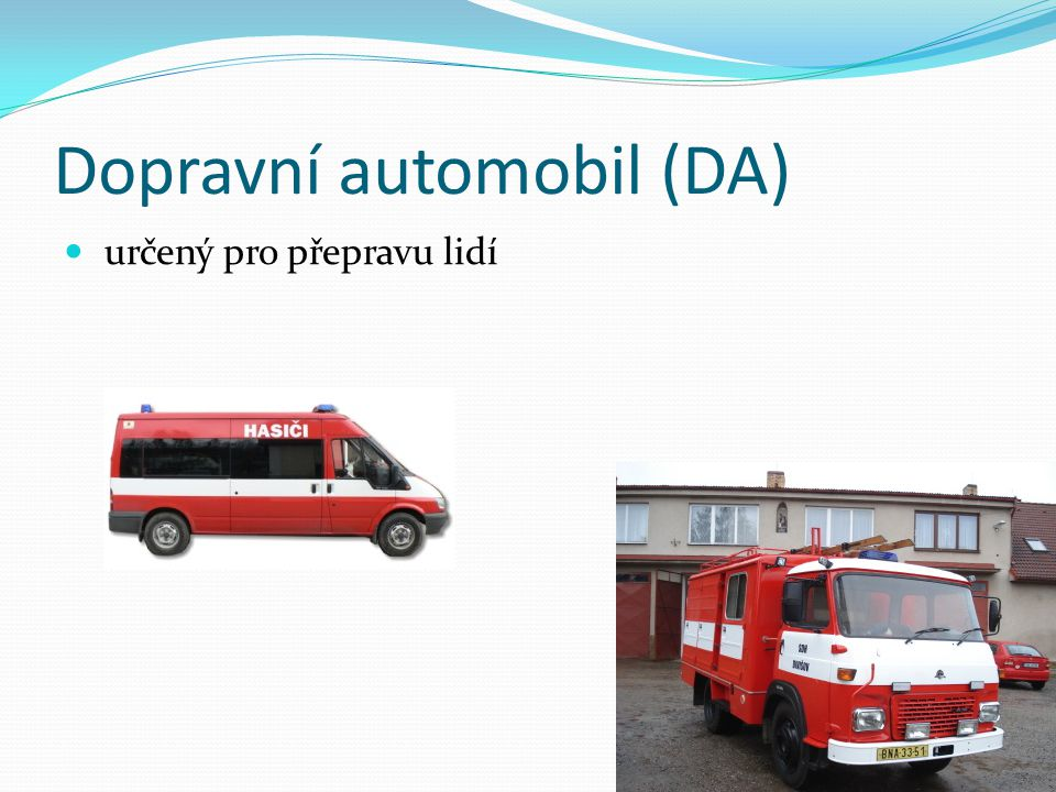 Rychlý zásahový automobil (RZA) speciálně upravený – nehody, požáry