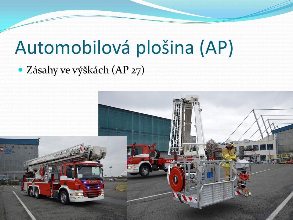 Automobilová plošina (AP) Zásahy ve výškách (AP 27)
