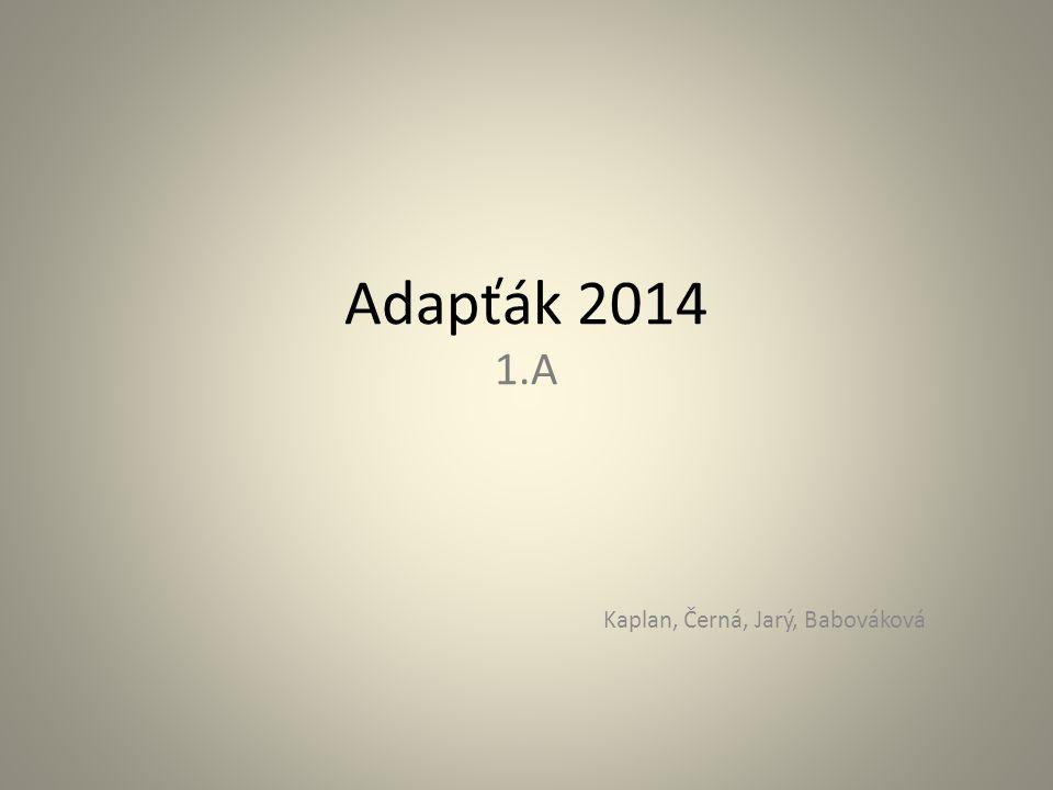 Adapťák 2014 1.A Kaplan, Černá, Jarý, Babováková
