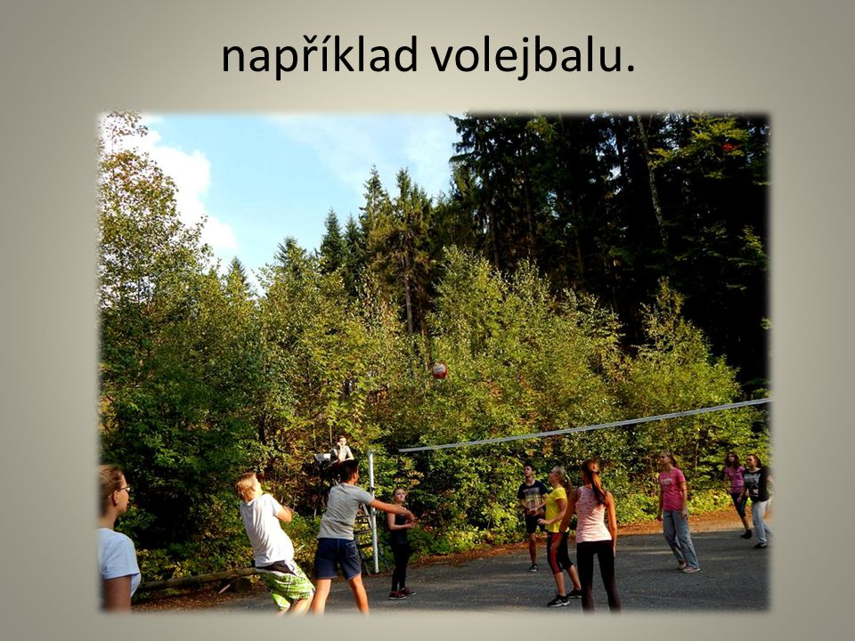 například volejbalu.