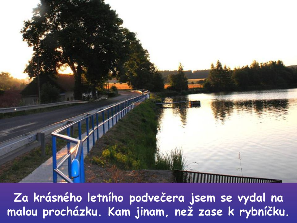 Udělej si čas na krásné večerní a ranní procházky….