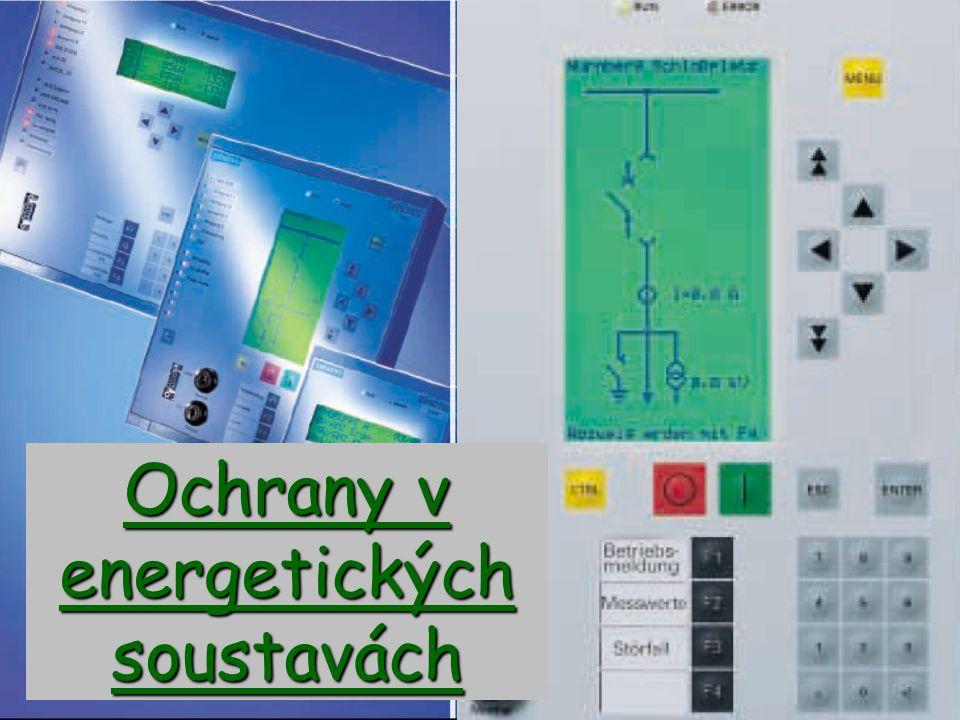 Obecné pojmy Elektrická ochrana je zařízení, které kontroluje chod části energetického systému (chráněného objektu).