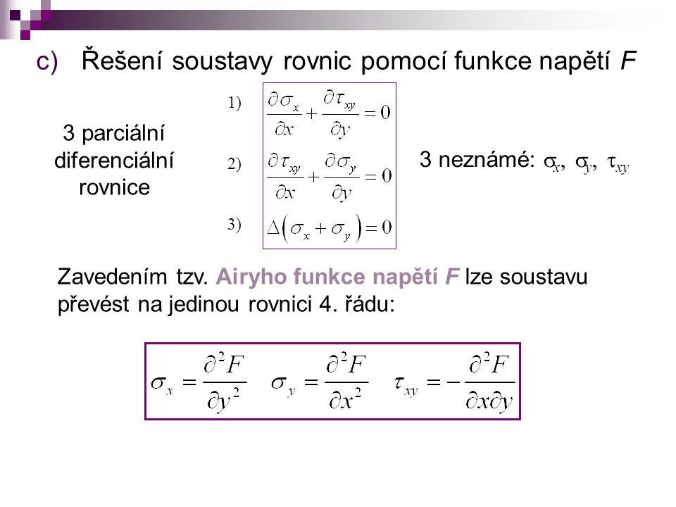 b) Funkce dvou proměnných Obyčejné derivace přechází na parciální.