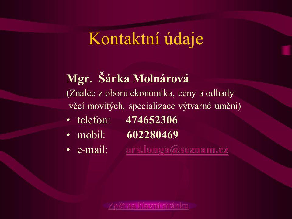 Kontaktní údaje