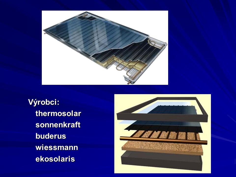 Výrobci:thermosolarsonnenkraftbuderuswiessmannekosolaris