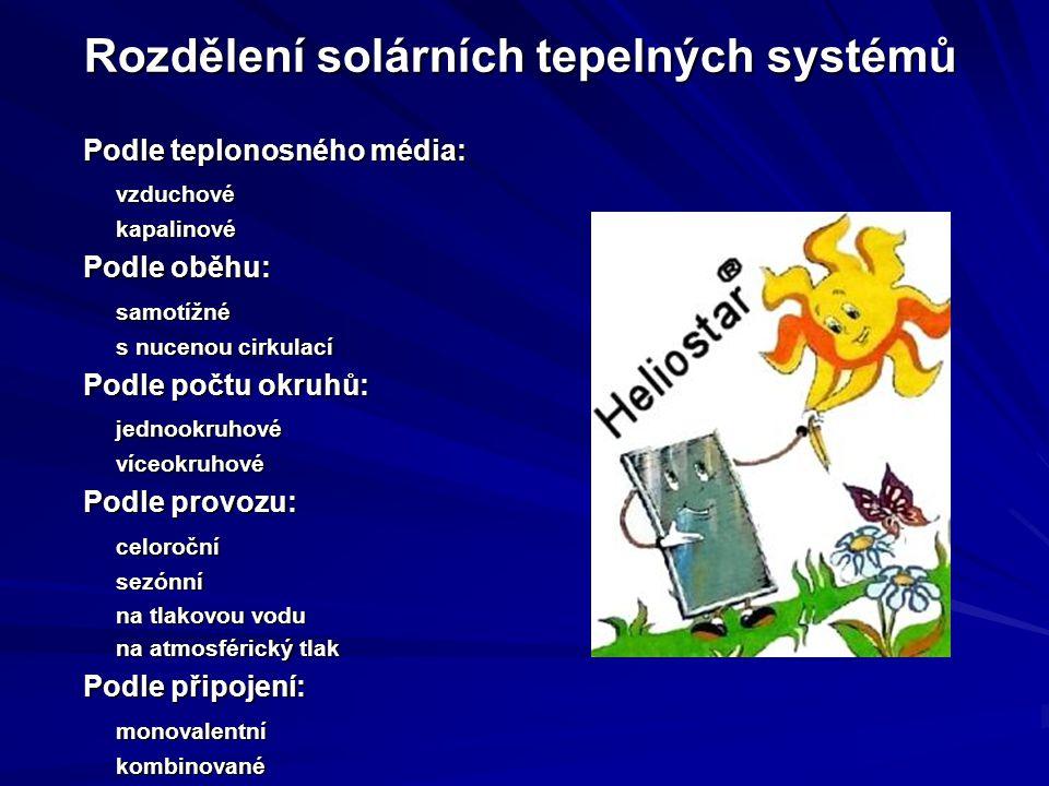Systémy samotížné a s nucenou cirkulací