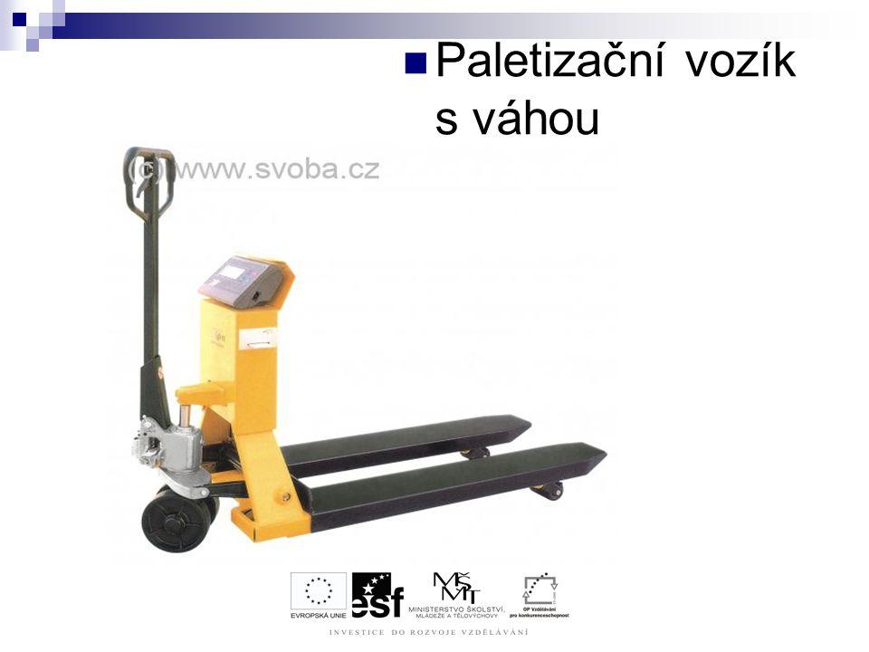 Paletizační vozík s váhou