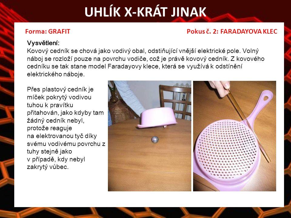 UHLÍK X-KRÁT JINAK Forma: GRAFIT Pokus č.