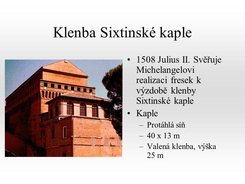 Klenba Sixtinské kaple 1508 Julius II.