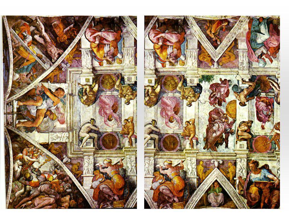 Poslední soud: střední část obrazu Ústřední seskupení Ježíš Kristus – nejvyšší soudce Andělé, kteří svými trubkami křísí mrtvé Chárón převážející odsouzené do Hádovy říše Celkově asi 300 postav; andělé, smrtelníci, mučedníci –sv.