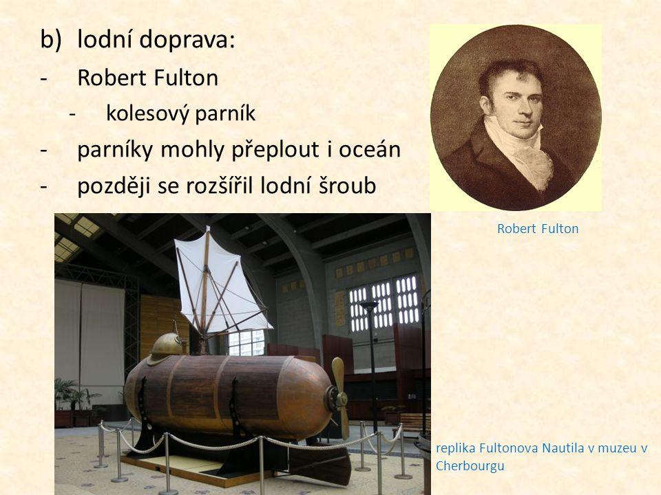 Robert Fulton ponorka objednaná Napoleonem Bonaparte kolesový parník