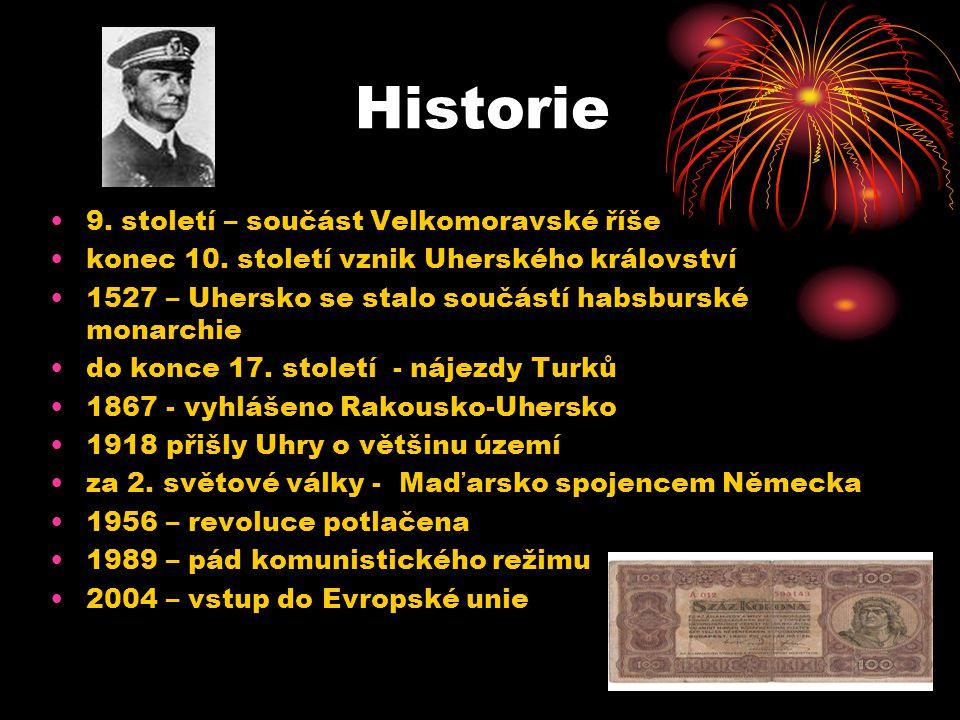 Historie 9. století – součást Velkomoravské říše konec 10. století vznik Uherského království 1527 – Uhersko se stalo součástí habsburské monarchie do