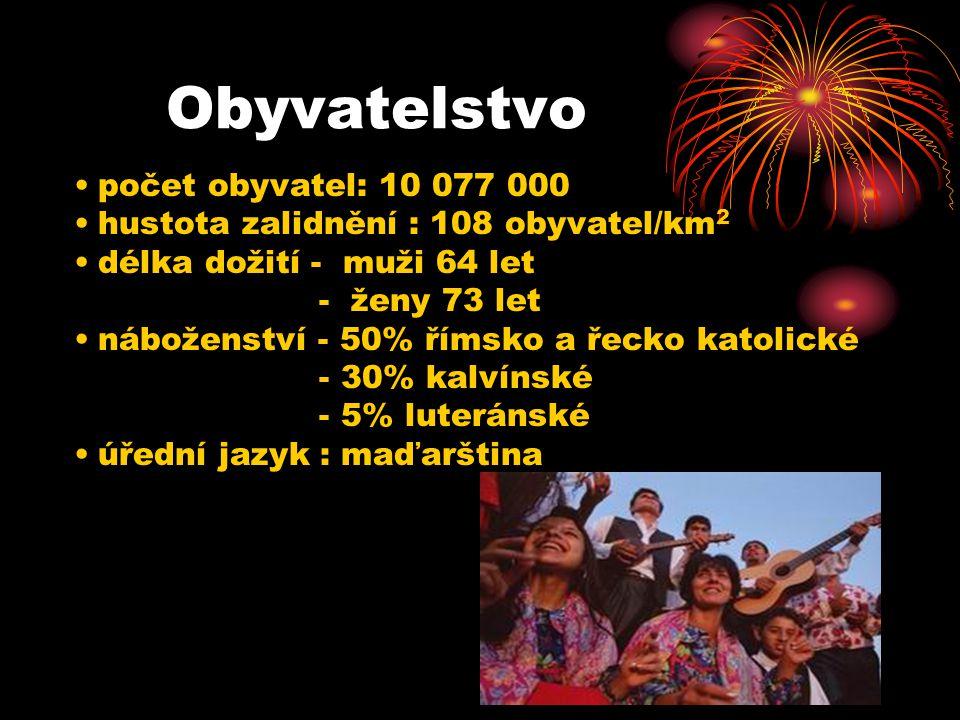 Obyvatelstvo počet obyvatel: 10 077 000 hustota zalidnění : 108 obyvatel/km 2 délka dožití - muži 64 let - ženy 73 let náboženství - 50% římsko a řeck