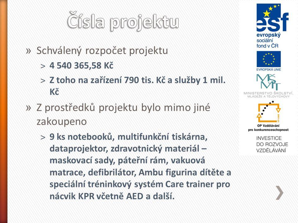 » Schválený rozpočet projektu ˃4 540 365,58 Kč ˃Z toho na zařízení 790 tis.
