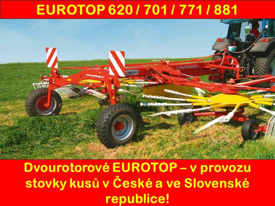Dvourotorové EUROTOP – v provozu stovky kus ů v Č eské a ve Slovenské republice! EUROTOP 620 / 701 / 771 / 881