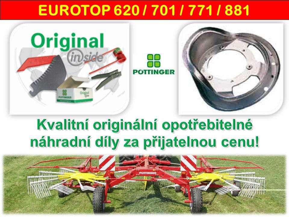 EUROTOP 881 - u ž ivatelé Na soukromé farmě Josefa Koliby využívají z techniky Pöttinger celkem 12 strojů, mimo jiné dvourotorový středový shrnovač EUROTOP 881 a sběrací vůz FARO 6300 L.