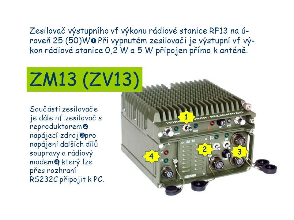 Součástí zesilovače je dále nf zesilovač s reproduktorem , napájecí zdroj  pro napájení dalších dílů soupravy a rádiový modem , který lze přes rozhraní RS232C připojit k PC.