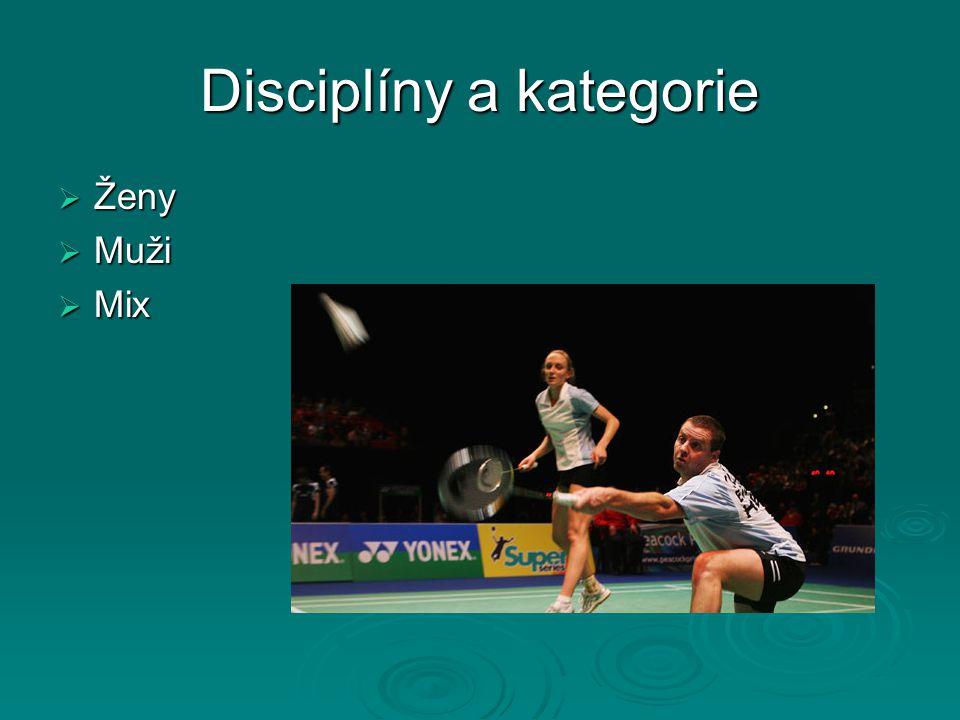 Disciplíny a kategorie  Ženy  Muži  Mix