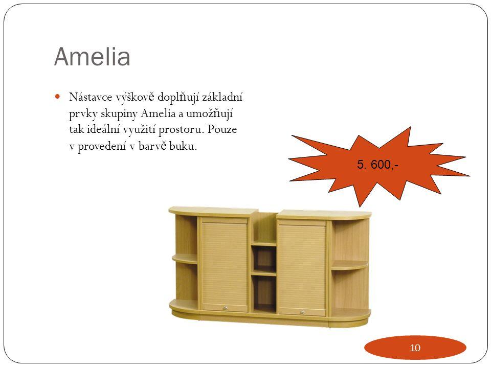 Amelia Nástavce výškov ě dopl ň ují základní prvky skupiny Amelia a umož ň ují tak ideální využití prostoru. Pouze v provedení v barv ě buku. 5. 600,-