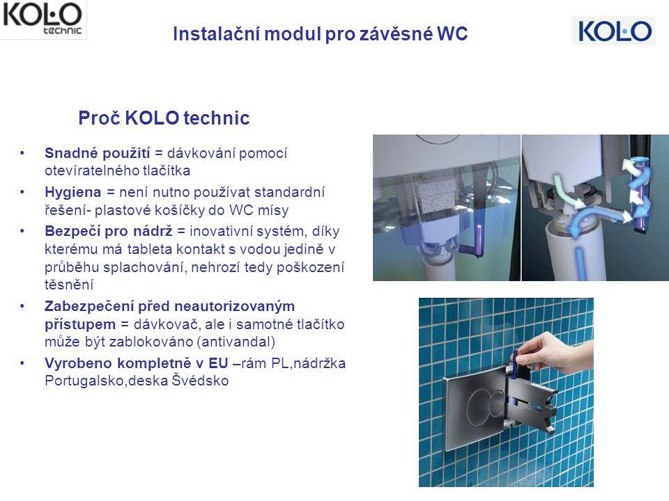 Snadné použití = dávkování pomocí otevíratelného tlačítka Hygiena = není nutno používat standardní řešení- plastové košíčky do WC mísy Bezpečí pro nád