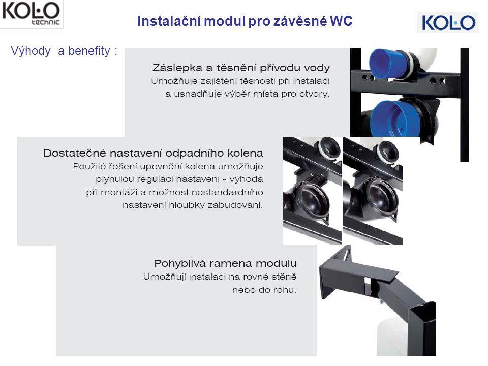 Instalační modul pro závěsné WC Výhody a benefity :