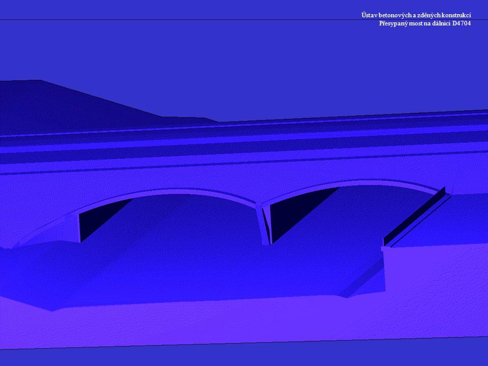 Ústav betonových a zděných konstrukcí Přesypaný most na dálnici D4704