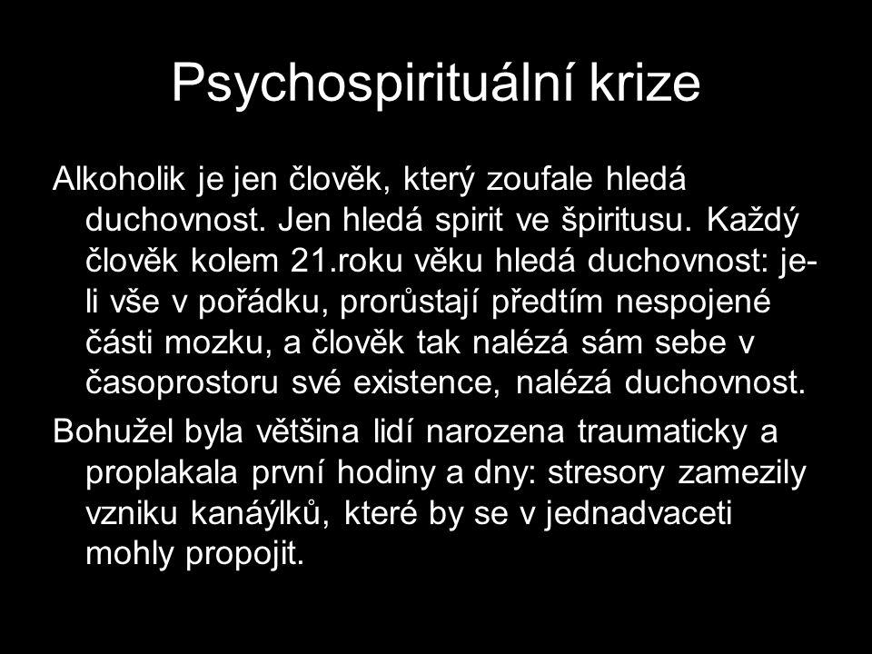 Psychospirituální krize Alkoholik je jen člověk, který zoufale hledá duchovnost.