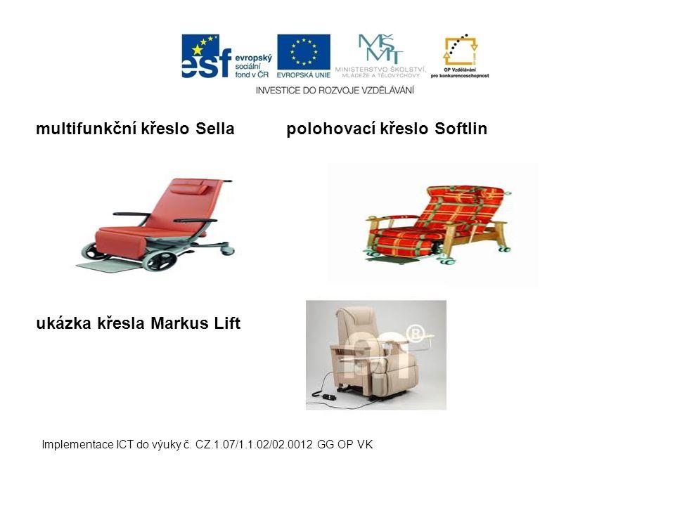 multifunkční křeslo Sella polohovací křeslo Softlin ukázka křesla Markus Lift Implementace ICT do výuky č. CZ.1.07/1.1.02/02.0012 GG OP VK