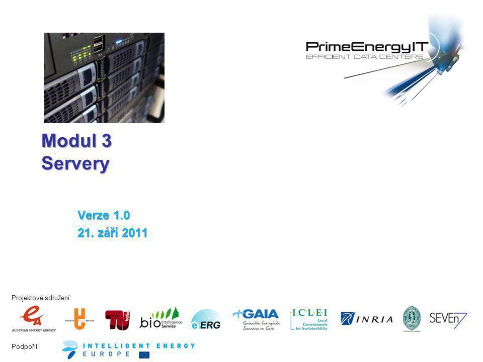 """Podpořil: www.efficient-datacenter.eu 32 Účinnost """"platinové kategorie napájecích zdrojů pro blade chassis (podle 80plus 2011) Energetická účinnost blade serverů Napájecí zdroje Účinnost napájecího zdroje Zátěž (% nominálního výstupního výkonu) Účinnost (%)"""