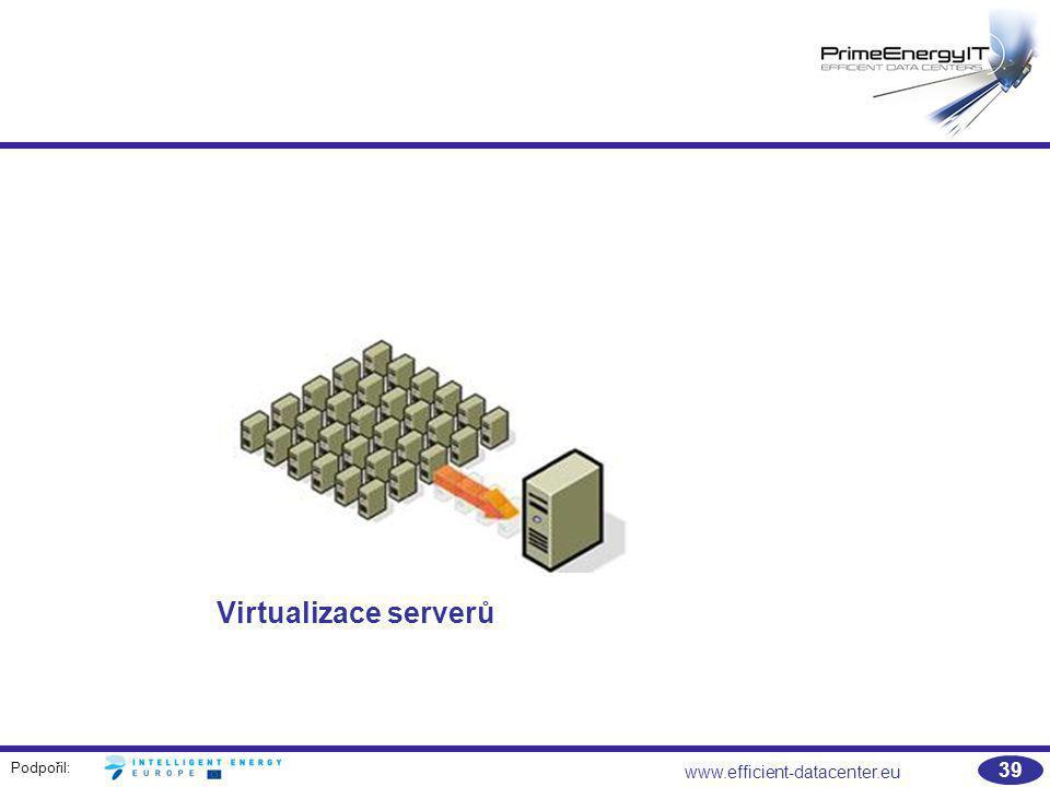 Podpořil: www.efficient-datacenter.eu 39 Virtualizace serverů