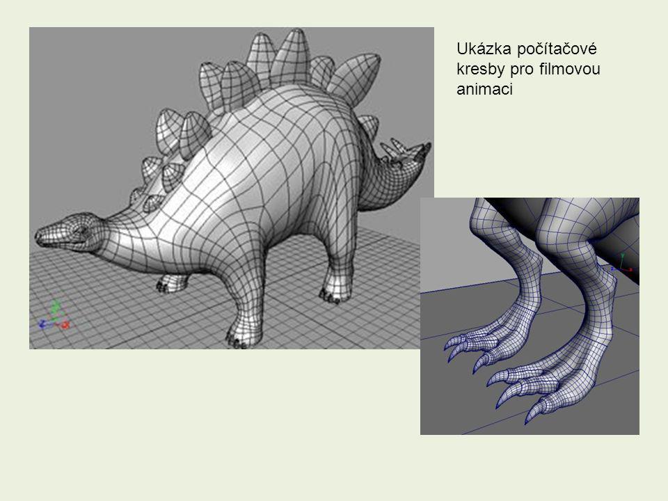 Ukázka počítačové kresby pro filmovou animaci