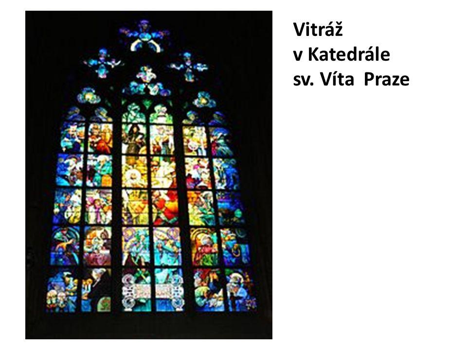 Vitráž v Katedrále sv. Víta Praze