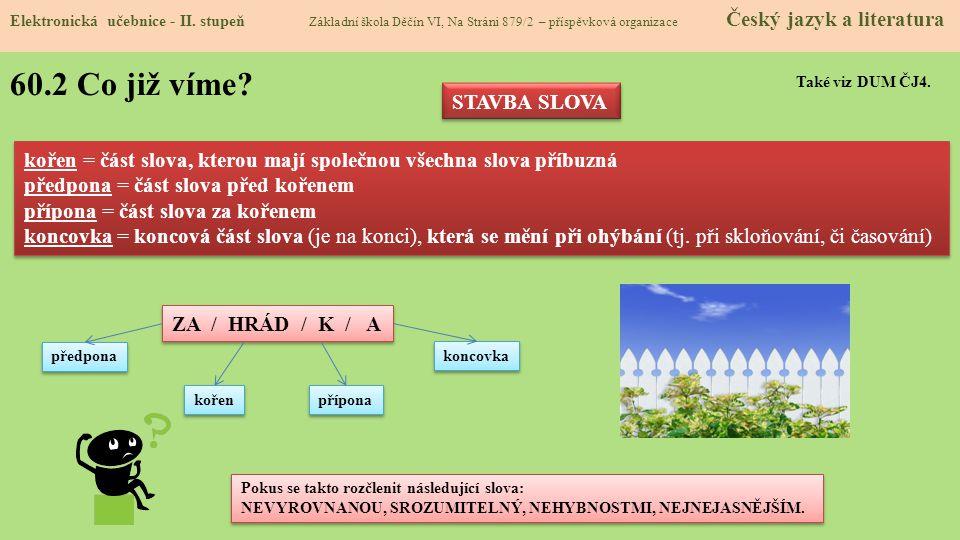 60.3 Jaké si řekneme nové termíny a názvy.Elektronická učebnice - II.