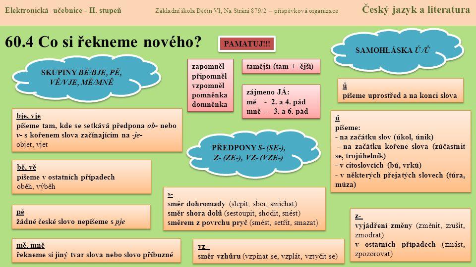 60.5 Procvičení a příklady Elektronická učebnice - II.