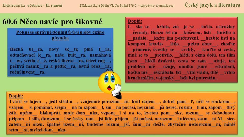 60.7 CLIL Elektronická učebnice - II.
