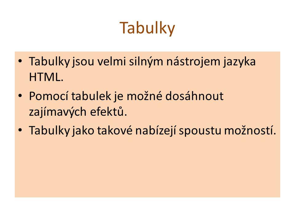 Tagy tabulky: