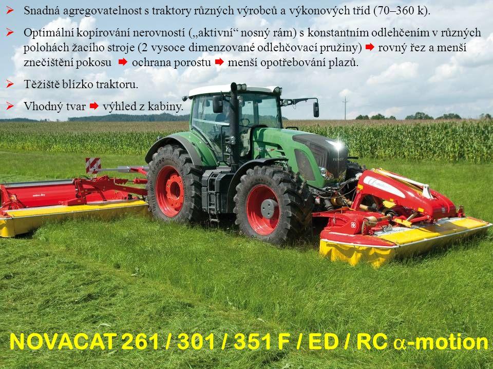  Snadná agregovatelnost s traktory různých výrobců a výkonových tříd (70–360 k).