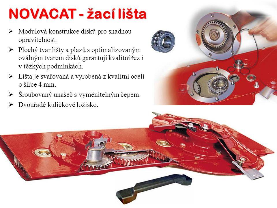 NOVACAT - ž ací lišta MM odulová konstrukce disků pro snadnou opravitelnost.