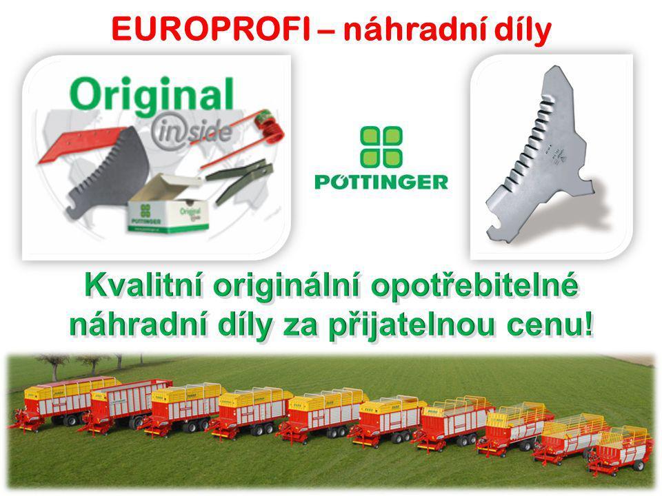 EUROPROFI D – panel POWER CONTROL  Komfortní ovládání všech funkcí z kabiny řidiče.