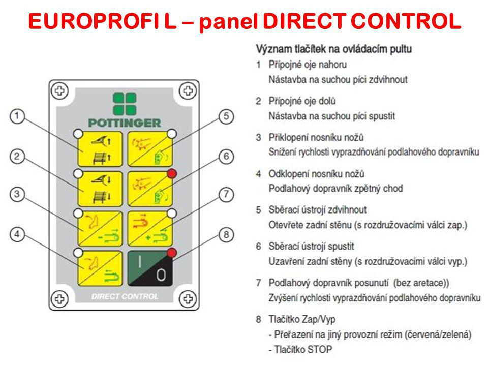 EUROPROFI L – panel DIRECT CONTROL