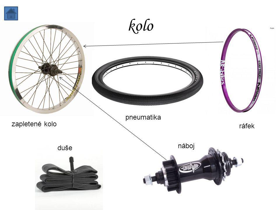 kolo zapletené kolo pneumatika ráfek duše náboj
