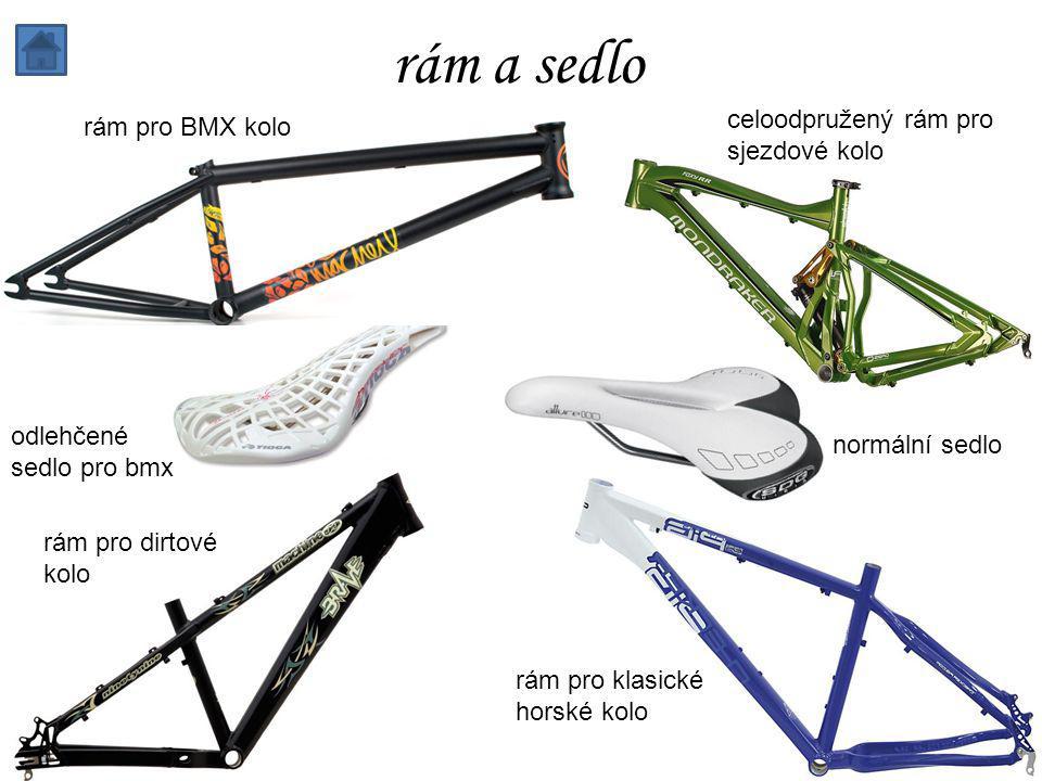 rám a sedlo rám pro BMX kolo celoodpružený rám pro sjezdové kolo odlehčené sedlo pro bmx normální sedlo rám pro dirtové kolo rám pro klasické horské kolo