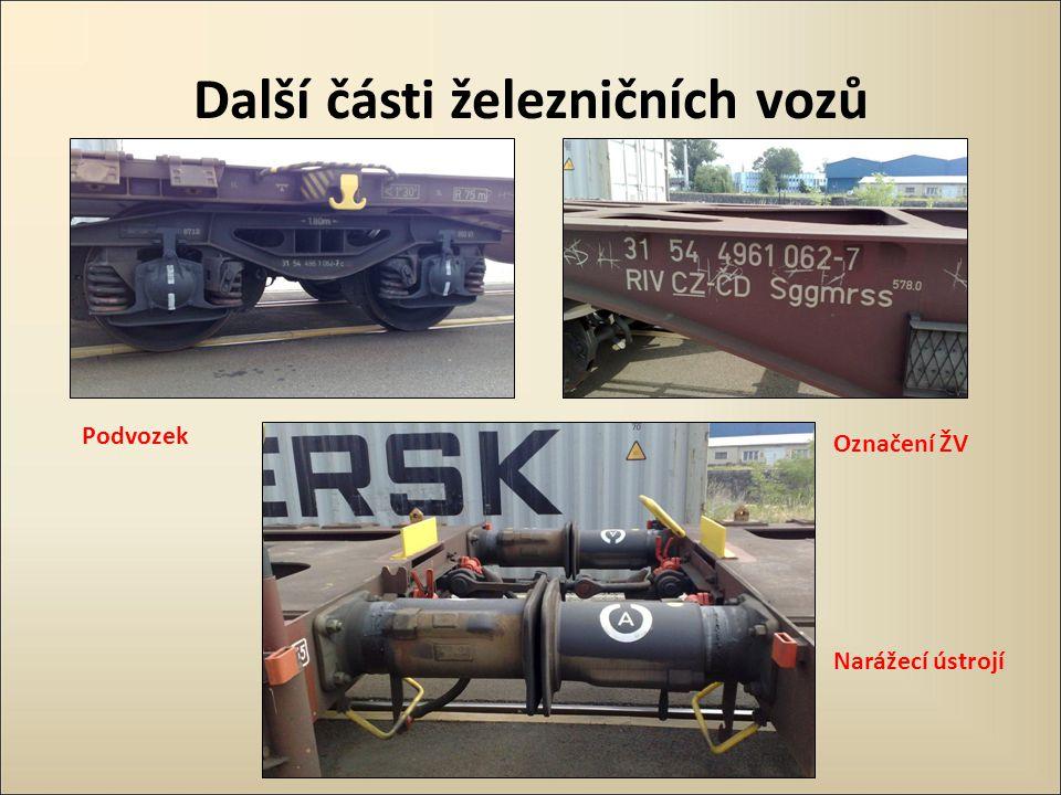 Další části železničních vozů Podvozek Označení ŽV Narážecí ústrojí