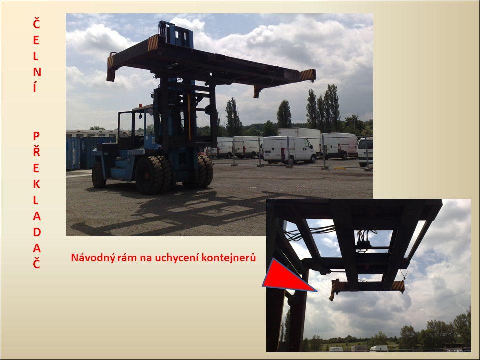 Návodný rám na uchycení kontejnerů ČELNÍ PŘEKLADAČČELNÍ PŘEKLADAČ